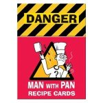Man with pan recipe cards