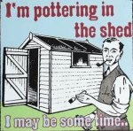Pottering in the shed