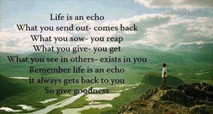 Life Is An Echo!