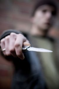 Youth with knife