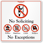 NO Solitciting